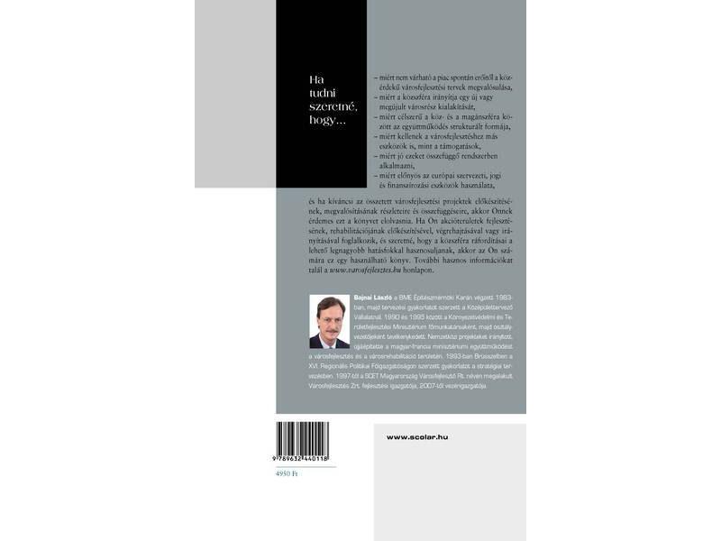 Bajnai László - Városfejlesztés - hátlap