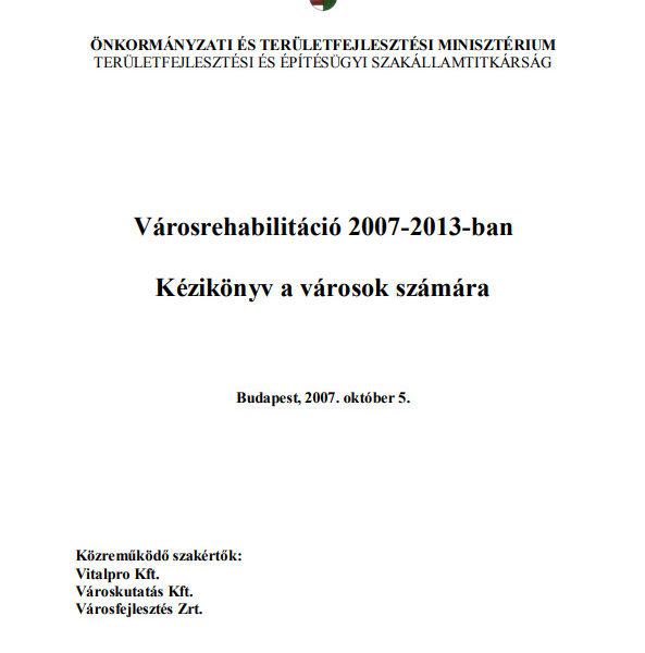 Bajnai László - Kézikönyv a városok számára