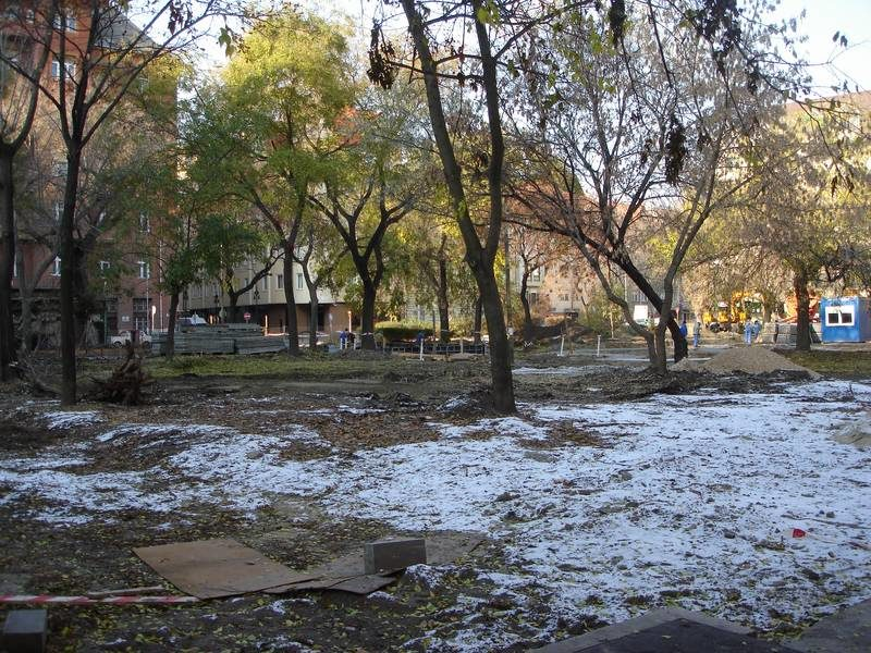 A Ferenc tér a rehabilitáció előt