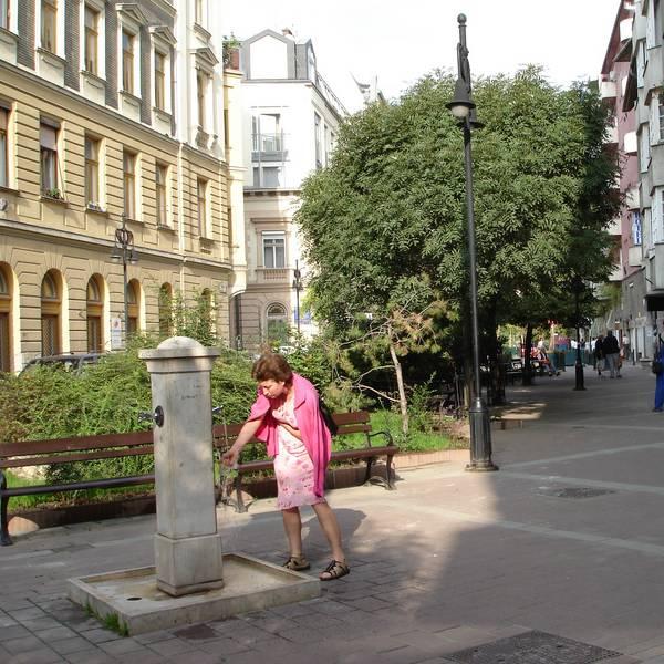 A sétáló utcává alakított Tompa utca a rehabilitáció után