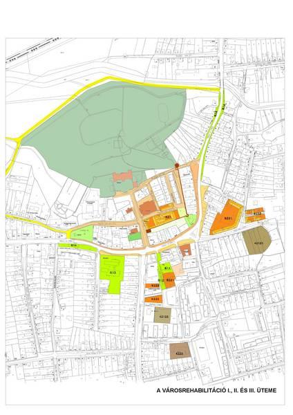 A városrehabilitáció I., II. és III. üteme