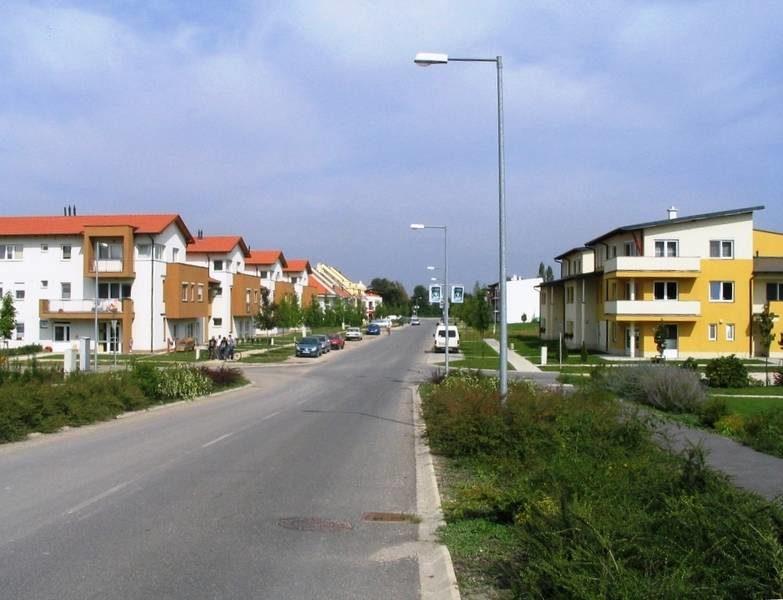 Az új lakóterület gyűjtőútja