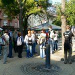 Külföldi egyetemisták ferencvárosi tanulmányúton