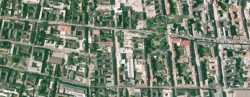 Légi fotó a Ferenc tér környékéről