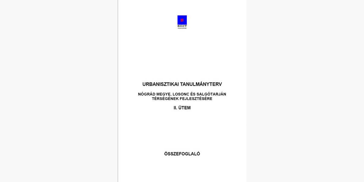 URBANISZTIKAI TANULMÁNYTERV II. - LOSONC, SALGÓTARJÁN
