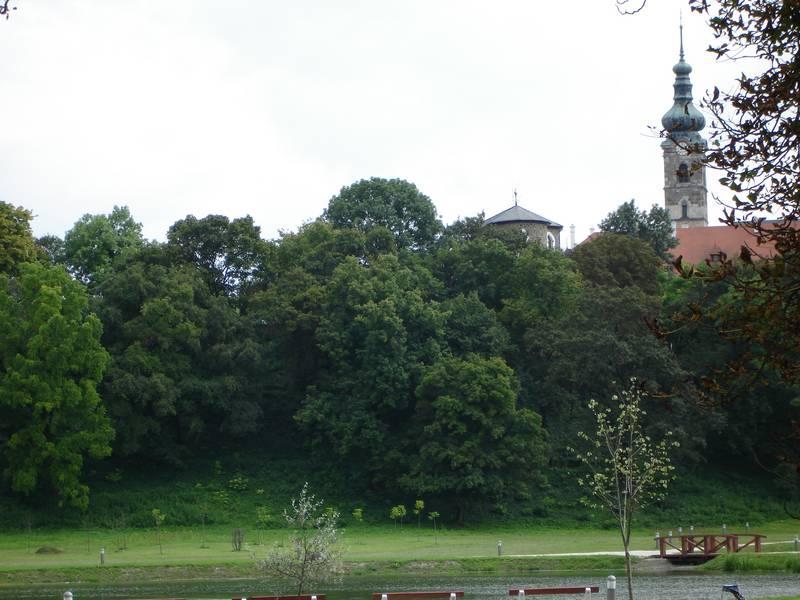 Városkép a rehabilitált várkert felől
